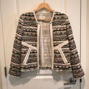 IRO jacket embroidered with colorful knit pattern